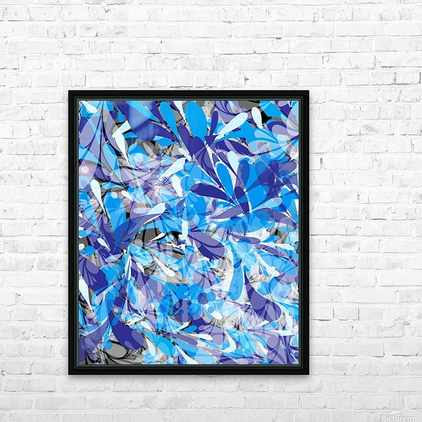 Abstract Floral HD Sublimation Metal print with Decorating Float Frame (BOX)
