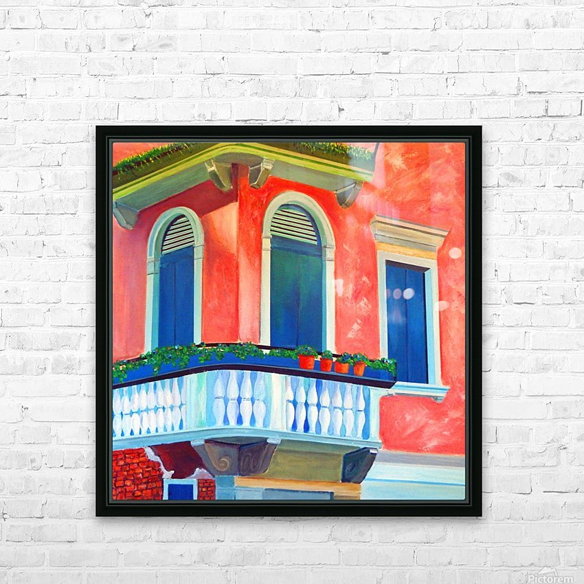 Venice Charm HD Sublimation Metal print with Decorating Float Frame (BOX)