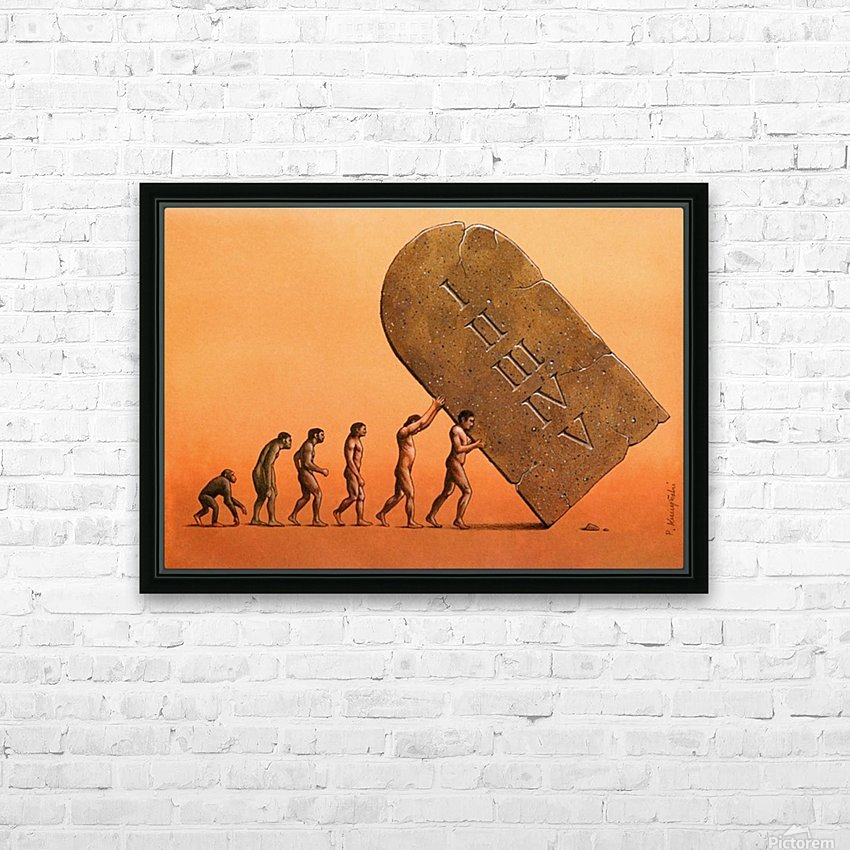 evolution HD Sublimation Metal print with Decorating Float Frame (BOX)