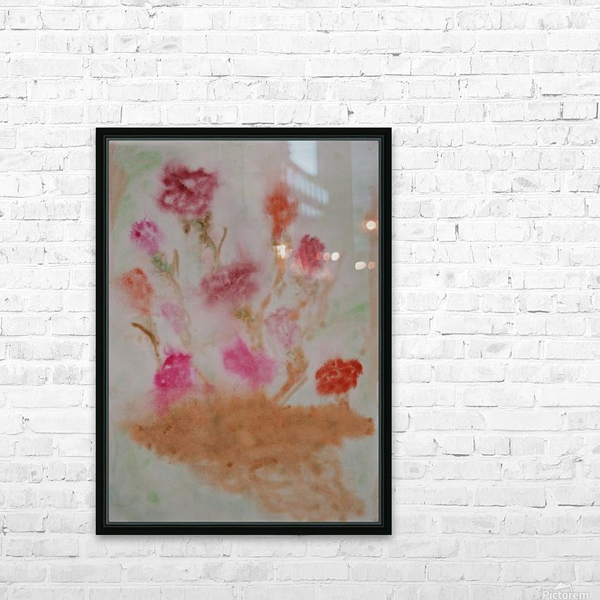 Carnations HD Sublimation Metal print with Decorating Float Frame (BOX)