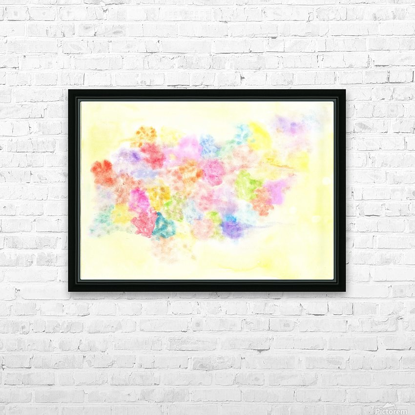 Flower jerb HD Sublimation Metal print with Decorating Float Frame (BOX)