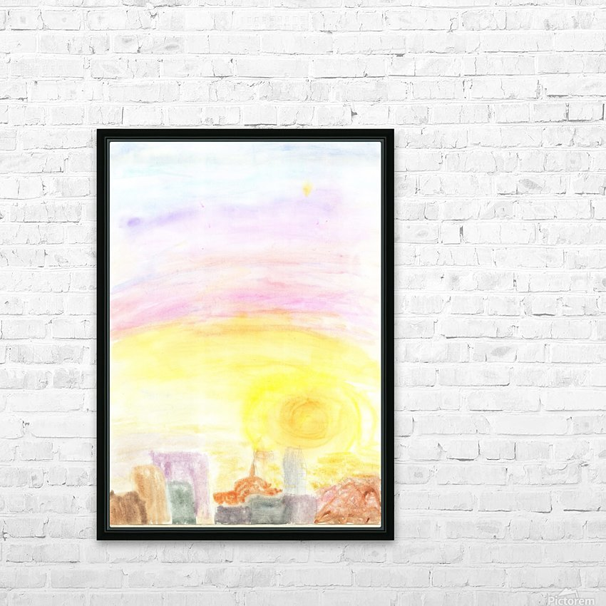 Sunset over the city HD Sublimation Metal print with Decorating Float Frame (BOX)