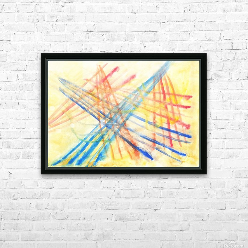Scratches 2 (Joan Miro tribute) HD Sublimation Metal print with Decorating Float Frame (BOX)