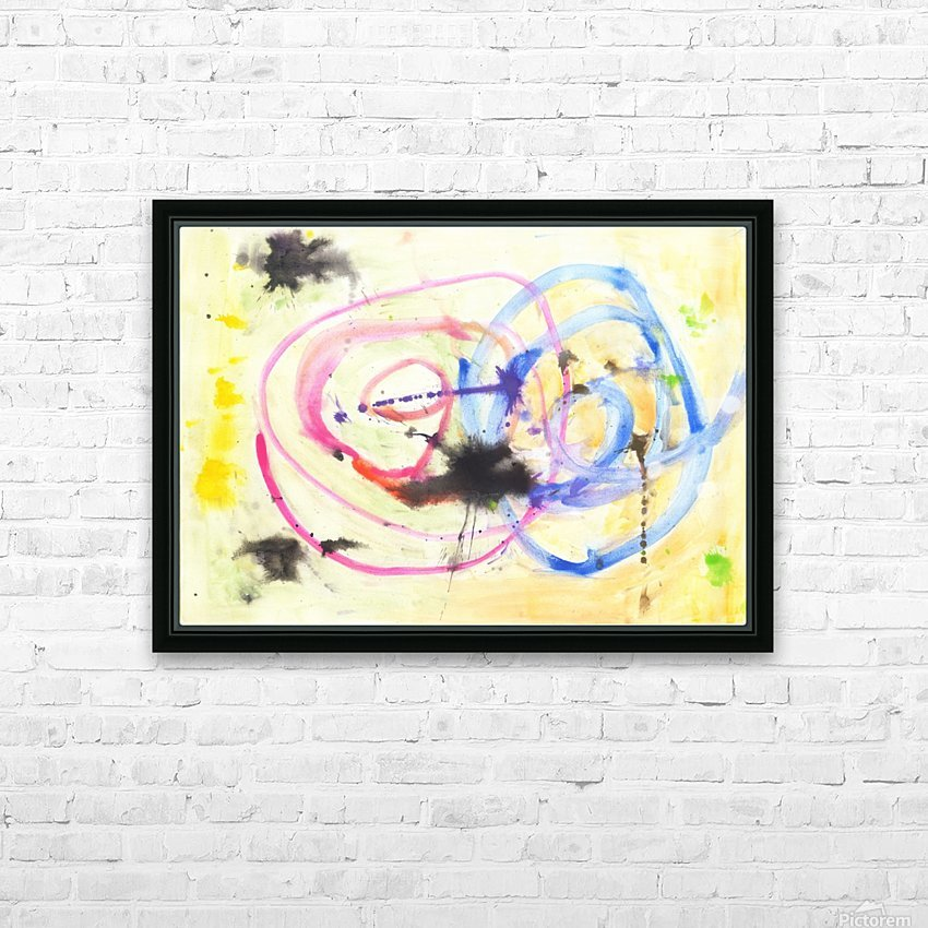 Relationship 1 (Joan Miro tribute) HD Sublimation Metal print with Decorating Float Frame (BOX)