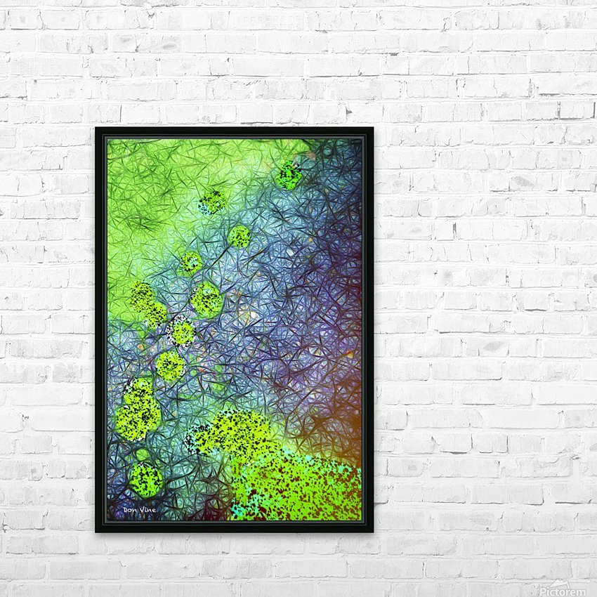 Green Paint Drops_120828_17039 HXSYV HD Sublimation Metal print with Decorating Float Frame (BOX)