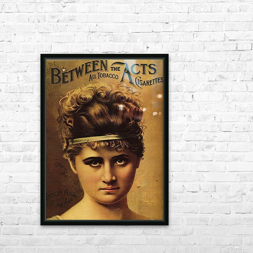 Vintage Cigarette Poster 1890 HD Sublimation Metal print with Decorating Float Frame (BOX)