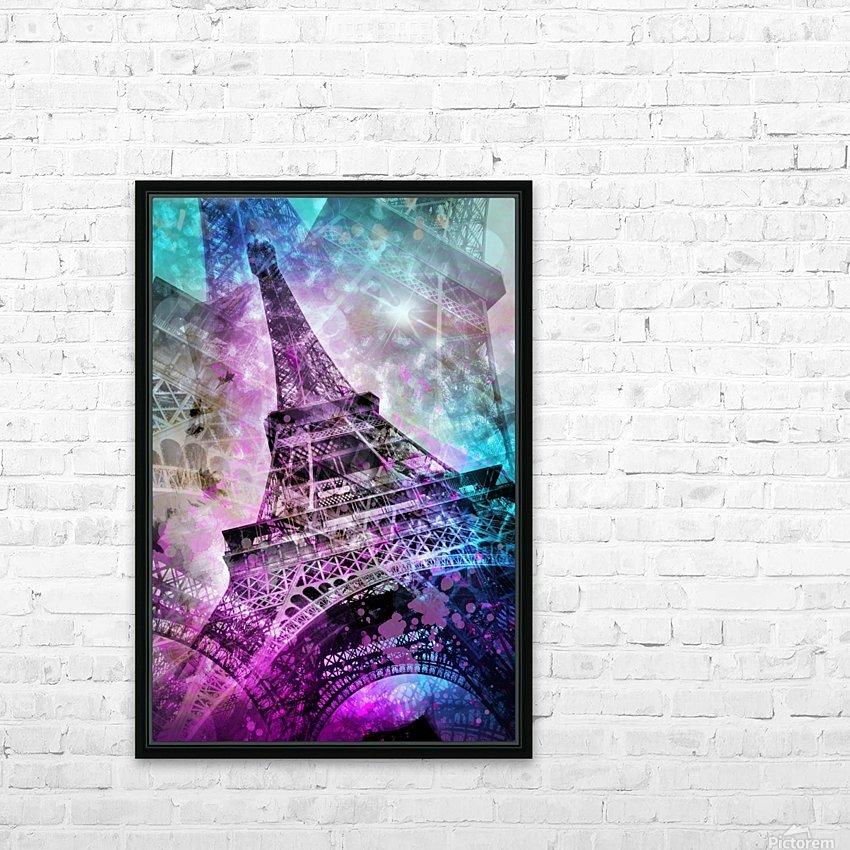 Pop Art Eiffel Tower HD sublimation métal imprimé avec décoration flotteur cadre (boîte)