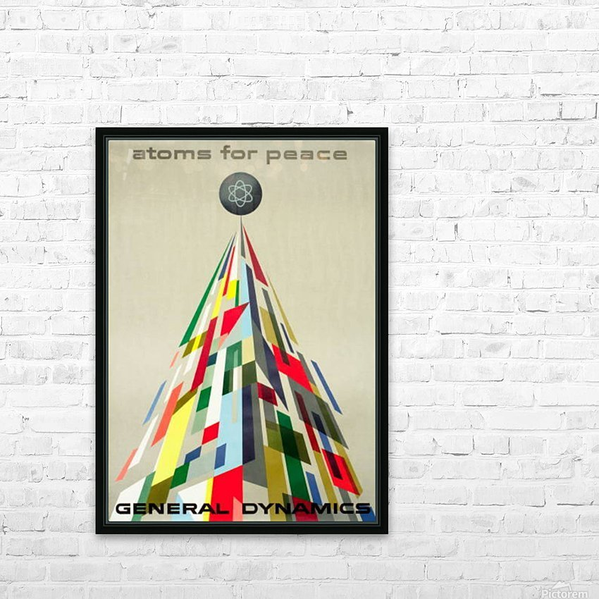 Atoms for Peace poster HD Sublimation Metal print with Decorating Float Frame (BOX)