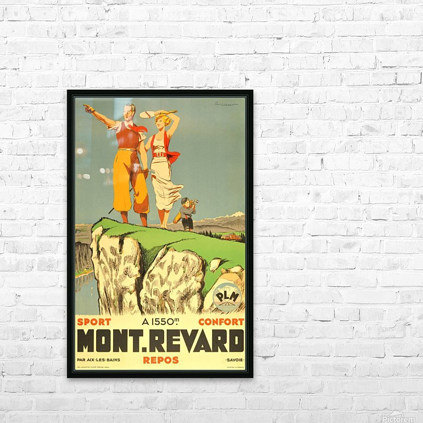 Original vintage poster from 1930 for Mont Revard in Savoie, France HD Sublimation Metal print with Decorating Float Frame (BOX)