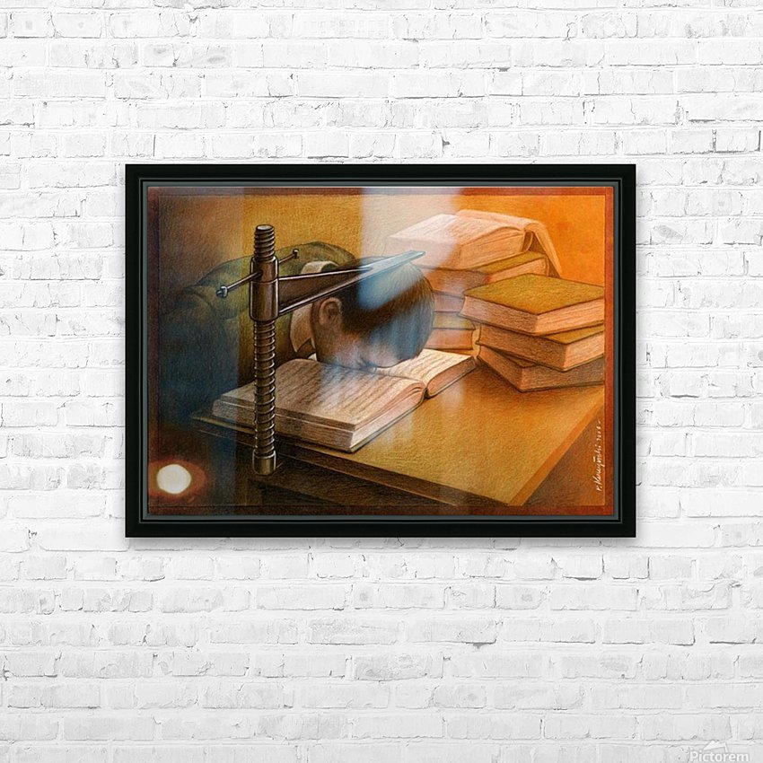 Book HD Sublimation Metal print with Decorating Float Frame (BOX)