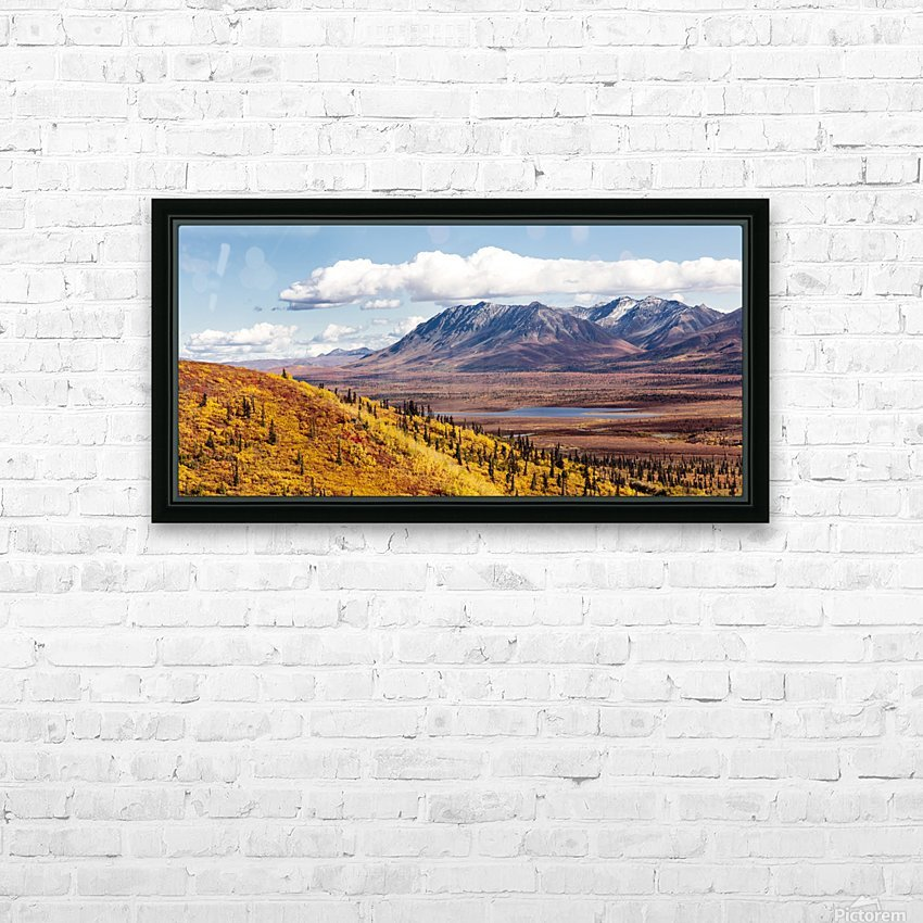 Scenic view of peak fall colors along Matanuska Valley, Southcentral Alaska HD Sublimation Metal print with Decorating Float Frame (BOX)