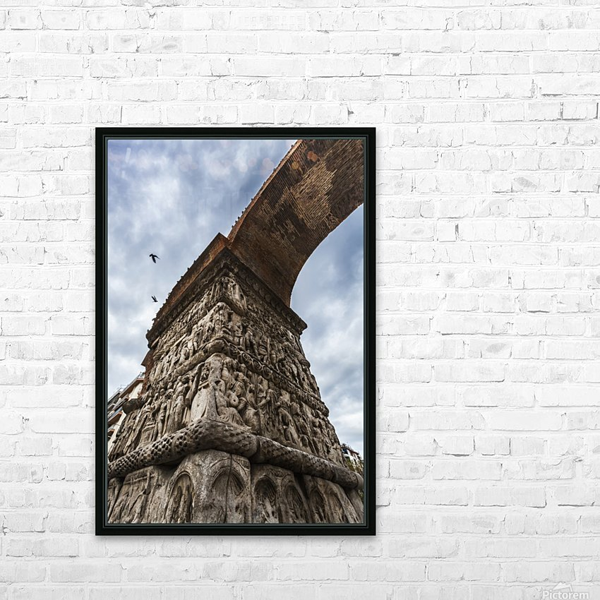 Relief on fortification wall; Thessaloniki, Greece HD Sublimation Metal print with Decorating Float Frame (BOX)