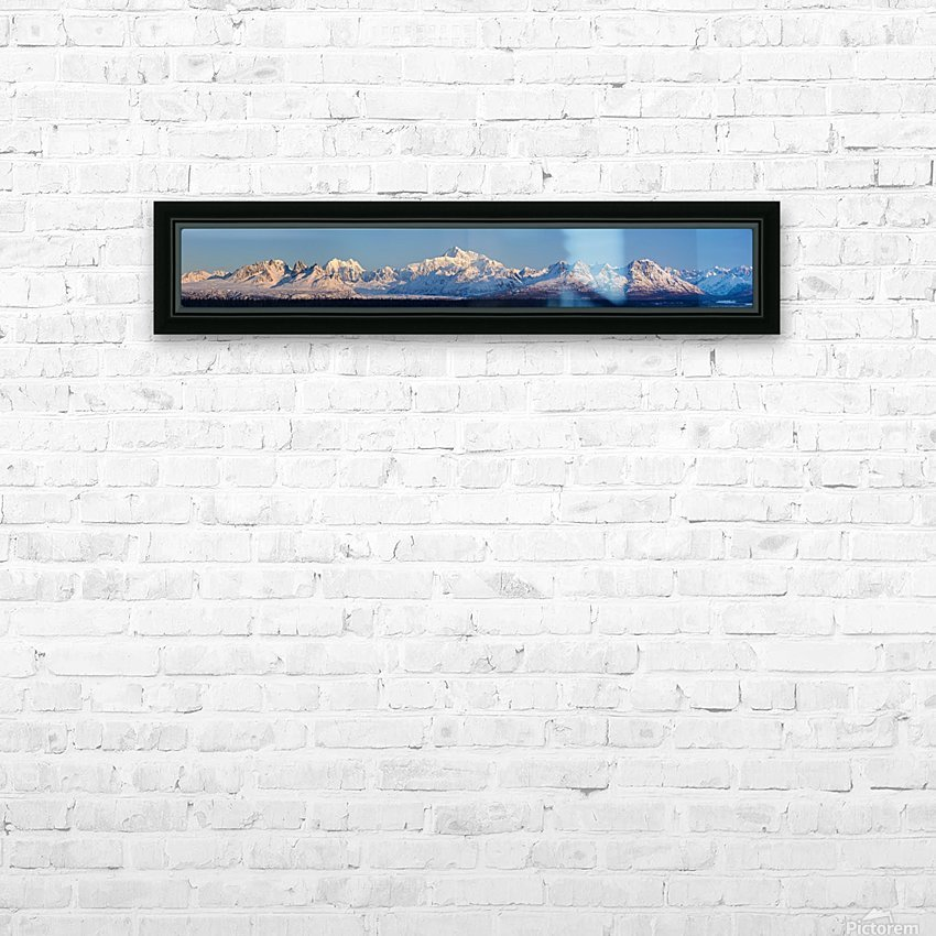 Panoramic view of sunrise over Denali and the Alaska Range, Denali State Park, Southcentral Alaska, Winter HD Sublimation Metal print with Decorating Float Frame (BOX)