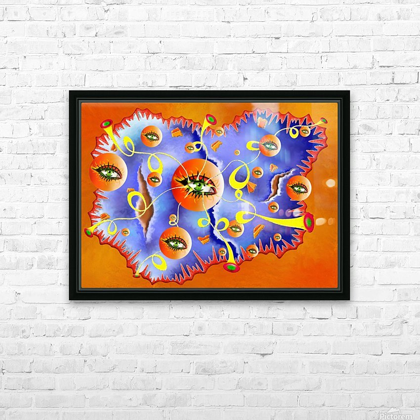 Fioloniceto V2 - digital surrealism HD Sublimation Metal print with Decorating Float Frame (BOX)