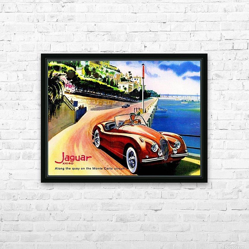 Jaguar Advertising Vintage Poster HD Sublimation Metal print with Decorating Float Frame (BOX)