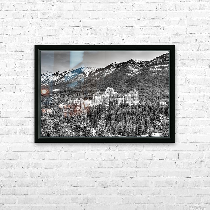 Banff_Hotel HD Sublimation Metal print with Decorating Float Frame (BOX)