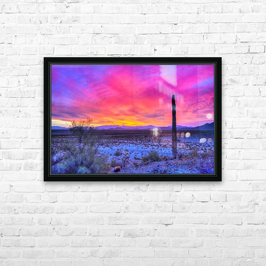 Sonoran_sunset HD Sublimation Metal print with Decorating Float Frame (BOX)
