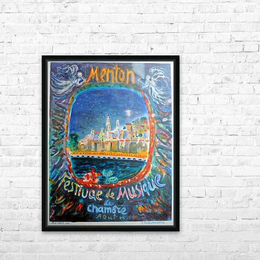 Menton Festival de Musique original advertising poster HD Sublimation Metal print with Decorating Float Frame (BOX)