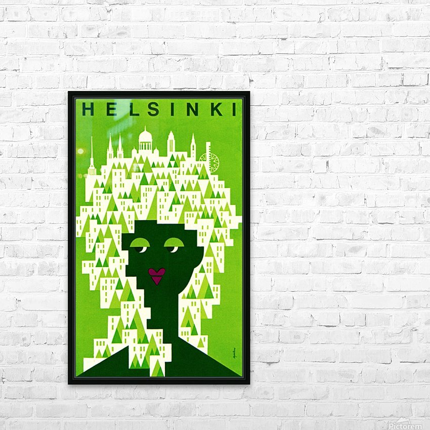 Helsinki Tourist Office Poster HD Sublimation Metal print with Decorating Float Frame (BOX)