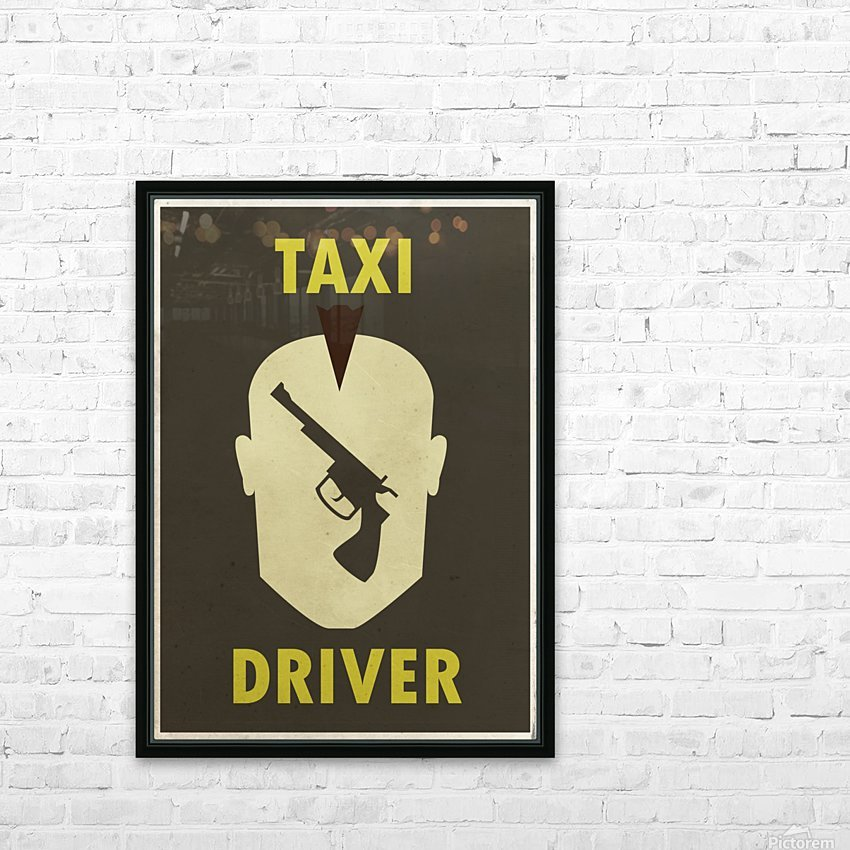 Taxi Driver Vintage Movie Poster HD Sublimation Metal print with Decorating Float Frame (BOX)