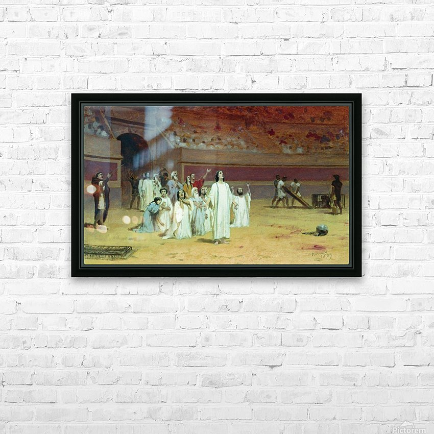 Christians in the arena HD Sublimation Metal print with Decorating Float Frame (BOX)
