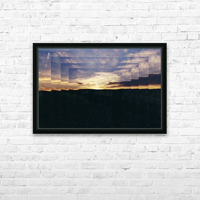 A  Manipulated Sunset HD Sublimation Metal print with Decorating Float Frame (BOX)