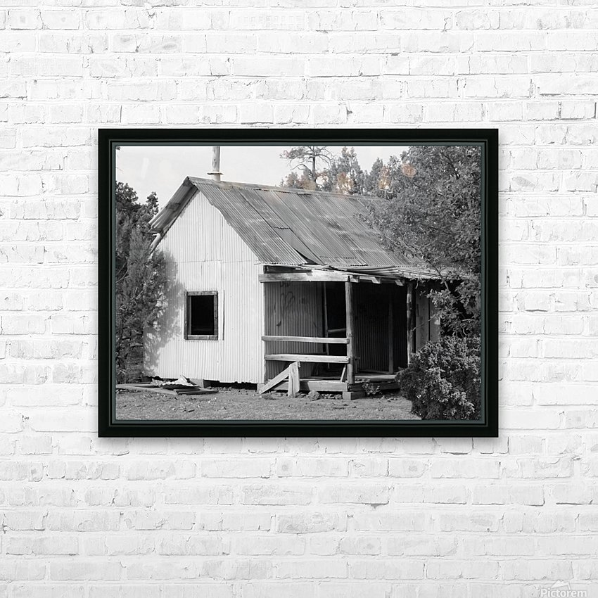 Old Miners Shack HD Sublimation Metal print with Decorating Float Frame (BOX)