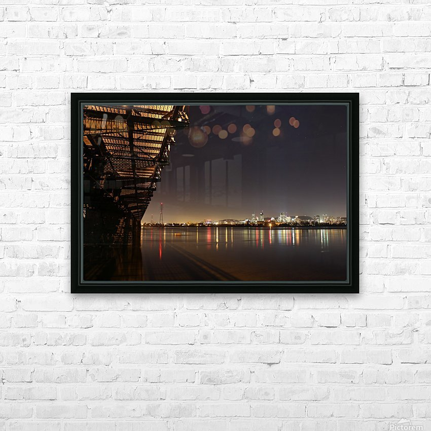 Cool Montreal Victoria Bridge HD Sublimation Metal print with Decorating Float Frame (BOX)