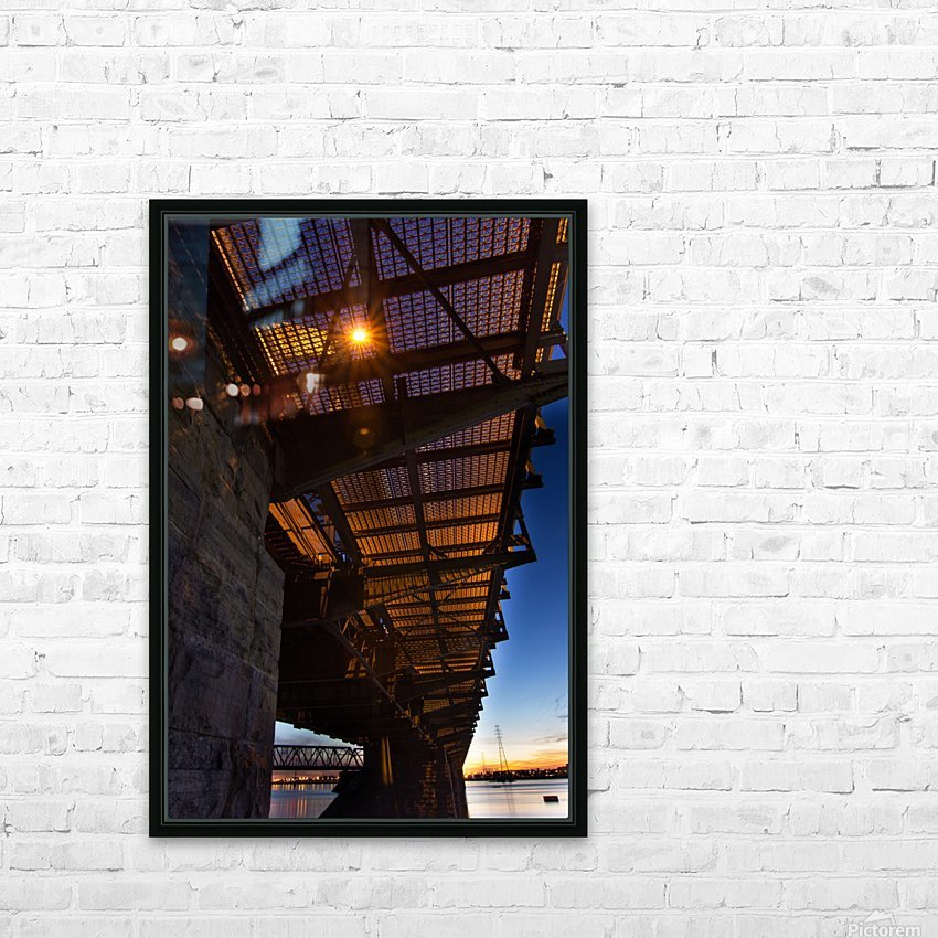 Under Victoria Bridge HD Sublimation Metal print with Decorating Float Frame (BOX)