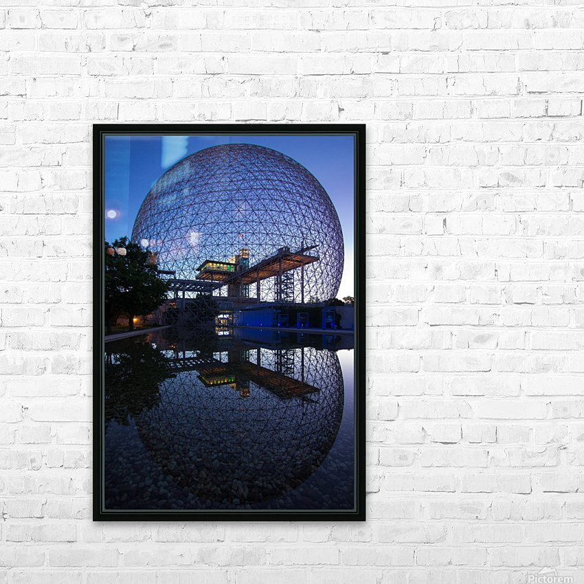 Reflections on Buckminster HD Sublimation Metal print with Decorating Float Frame (BOX)