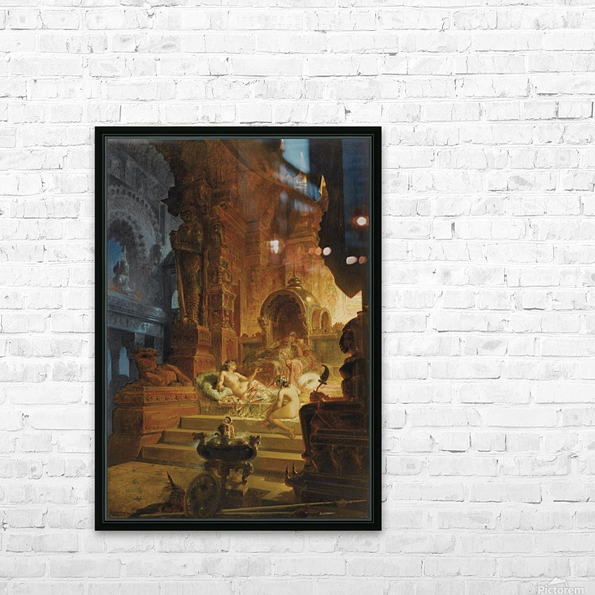 Scheherazade and the Sultan HD Sublimation Metal print with Decorating Float Frame (BOX)