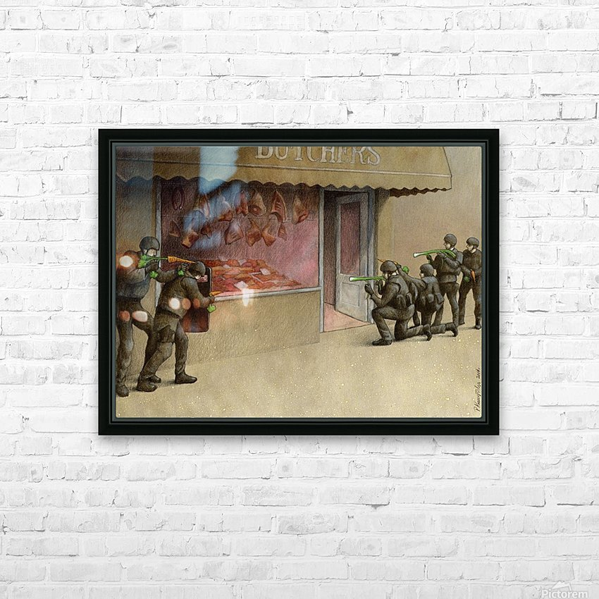 SWAT HD Sublimation Metal print with Decorating Float Frame (BOX)