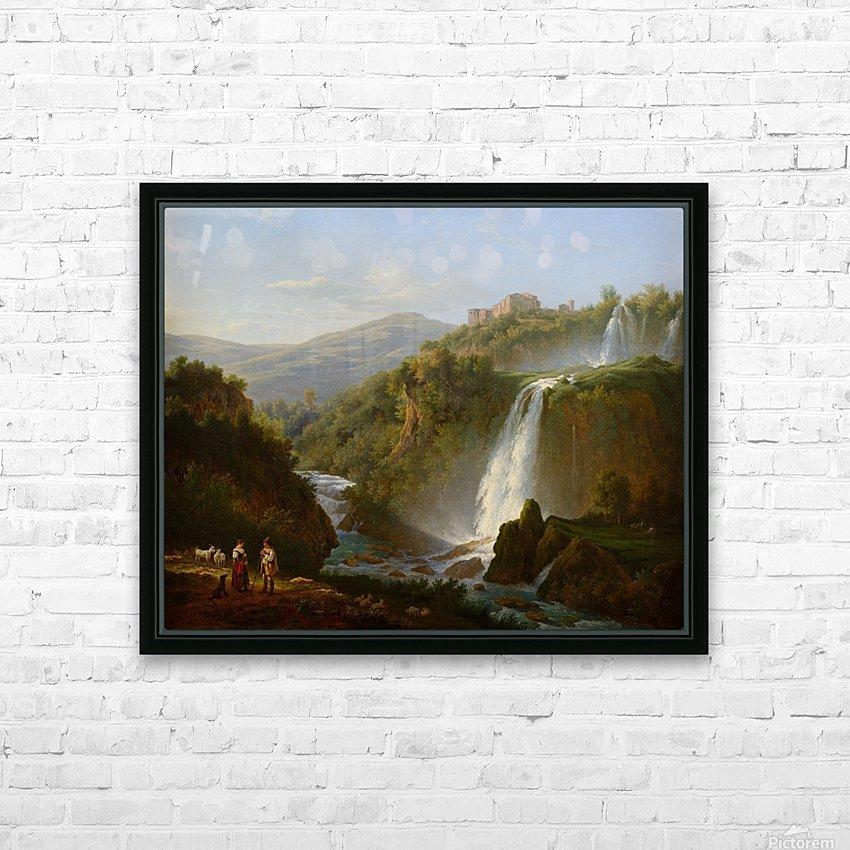 Waterfall near Tivoli HD Sublimation Metal print with Decorating Float Frame (BOX)