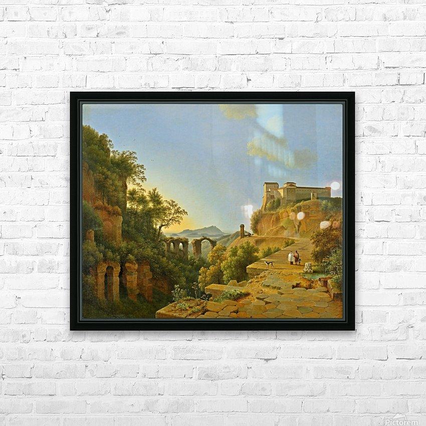 De golf van Napels met op de achtergrond het eiland Ischia HD Sublimation Metal print with Decorating Float Frame (BOX)