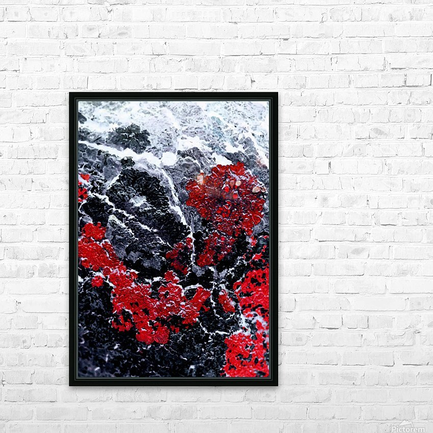 Red Cliff HD Sublimation Metal print with Decorating Float Frame (BOX)