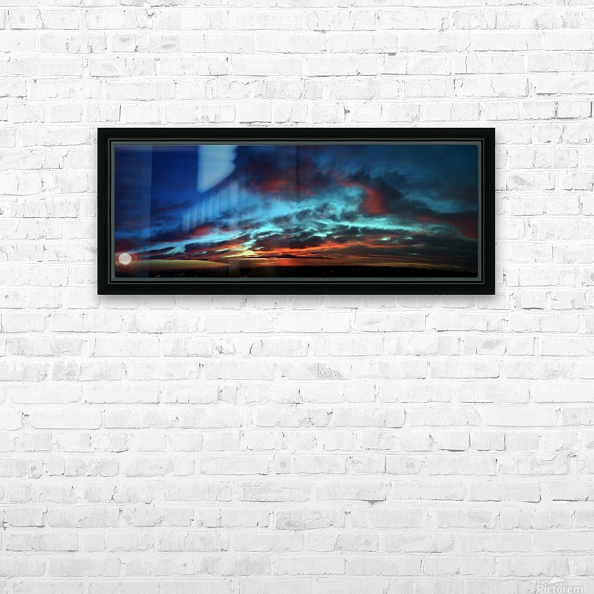 Dawn in Cairo HD Sublimation Metal print with Decorating Float Frame (BOX)
