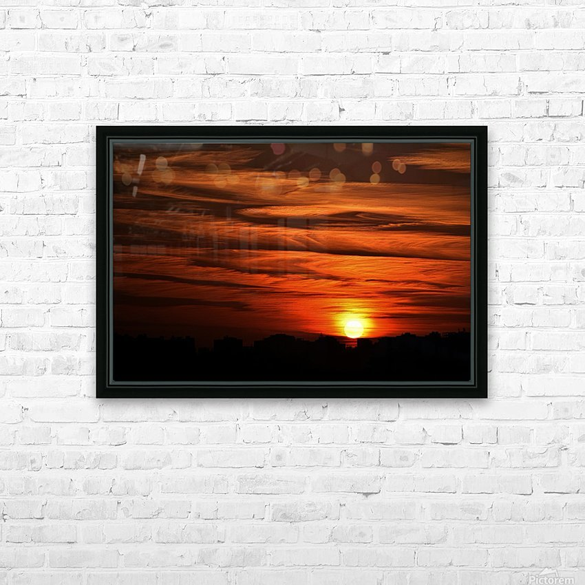 Sunrise in Cairo HD Sublimation Metal print with Decorating Float Frame (BOX)