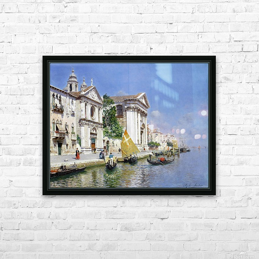 The Zattera and Church of the Jesuate, Venice HD Sublimation Metal print with Decorating Float Frame (BOX)