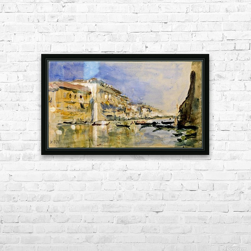 The Grand Canal, Venice HD Sublimation Metal print with Decorating Float Frame (BOX)