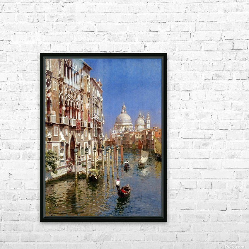 Grand Canal HD Sublimation Metal print with Decorating Float Frame (BOX)
