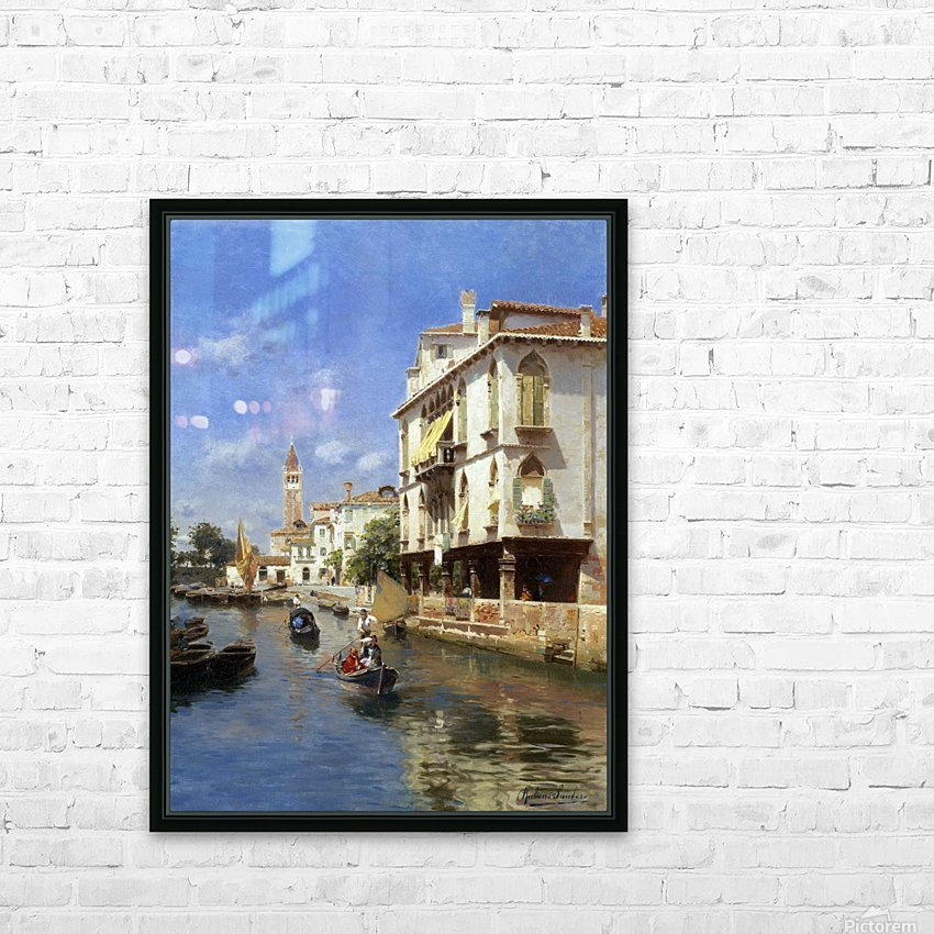 Canale della Guerra, Venice HD Sublimation Metal print with Decorating Float Frame (BOX)