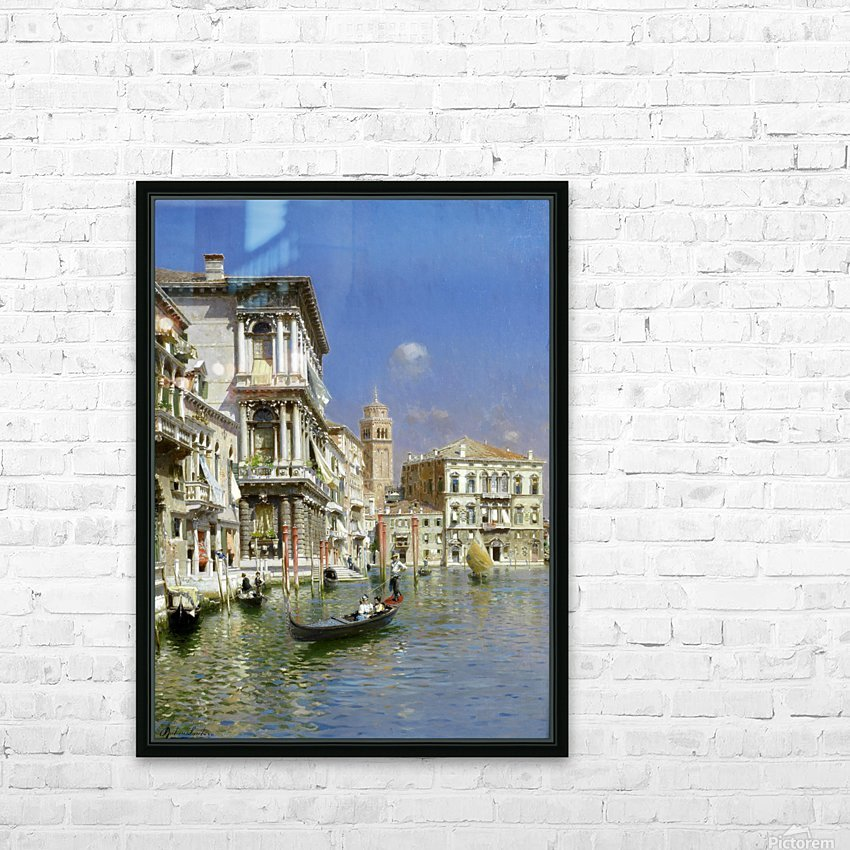 In the gondola HD Sublimation Metal print with Decorating Float Frame (BOX)