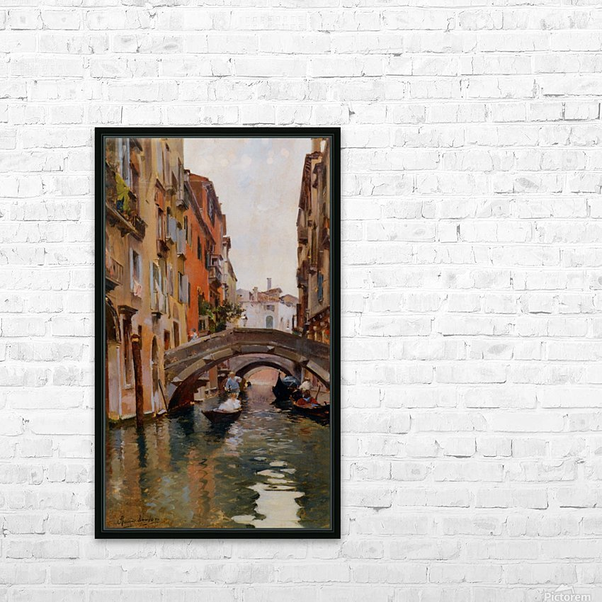Gondola On a Venetian Canal HD Sublimation Metal print with Decorating Float Frame (BOX)