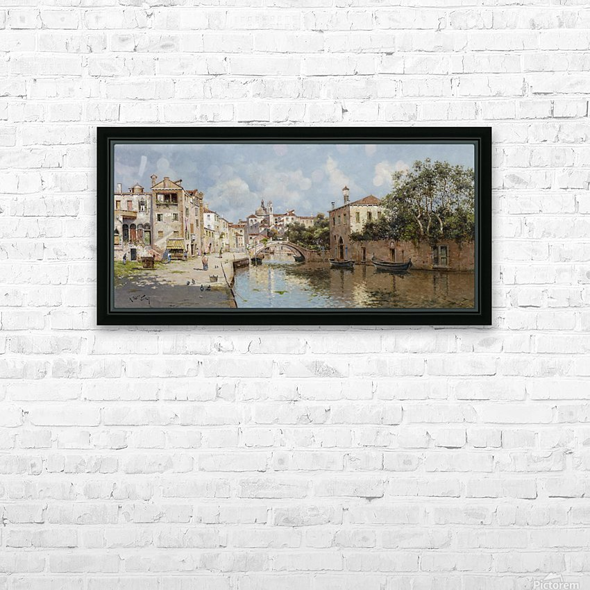 Venetian Canal HD Sublimation Metal print with Decorating Float Frame (BOX)