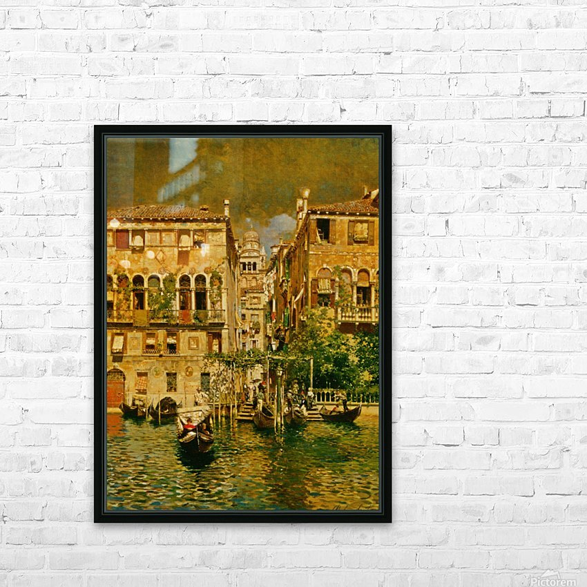 Leaving a Residence on the Grand Canal HD Sublimation Metal print with Decorating Float Frame (BOX)