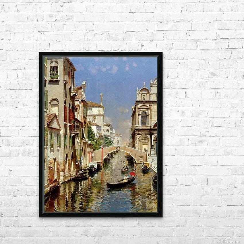 A Venetian Canal with the Scuola Grande di San Marco and Campo San Giovanni e Paolo HD Sublimation Metal print with Decorating Float Frame (BOX)