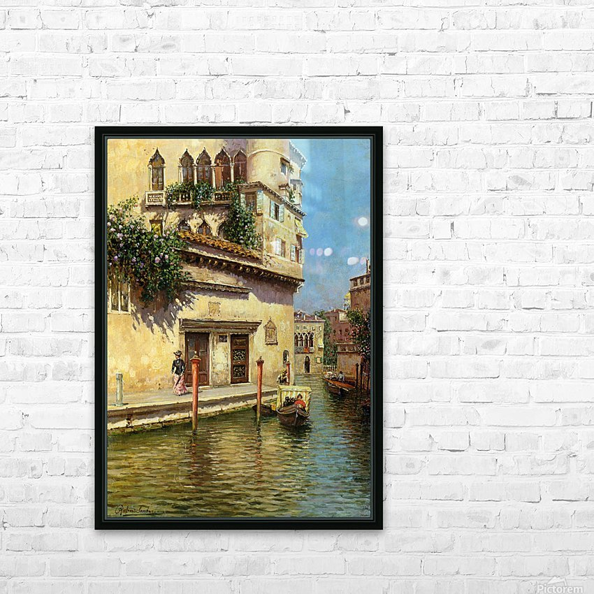 A Venetian Backwater HD Sublimation Metal print with Decorating Float Frame (BOX)