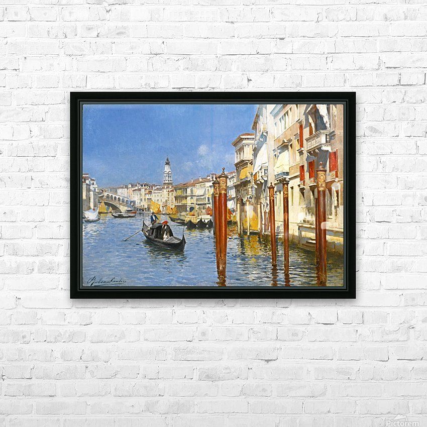 The Grand Canal in Venice HD Sublimation Metal print with Decorating Float Frame (BOX)