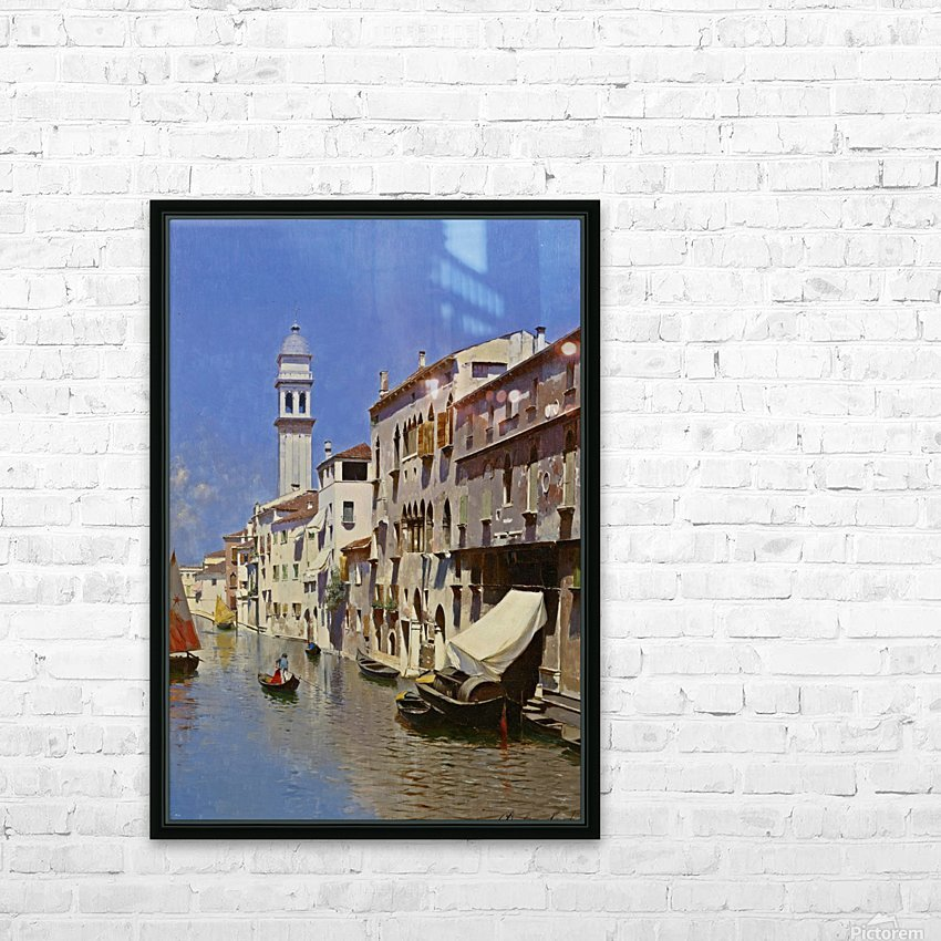 Along a Venetian canal HD Sublimation Metal print with Decorating Float Frame (BOX)