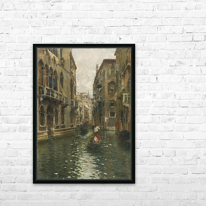 A family outing on a Venetian canal HD Sublimation Metal print with Decorating Float Frame (BOX)